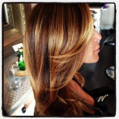 Yummy honey butterscotch highlights