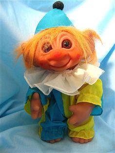 Vintage Clown Troll Doll