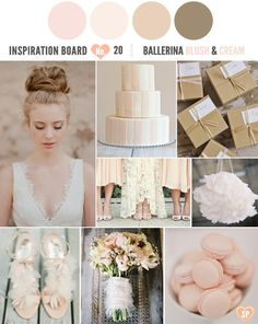 Ballerina Blush and Cream Inspiration Board #nutcrackerwedding #weddinginspiration