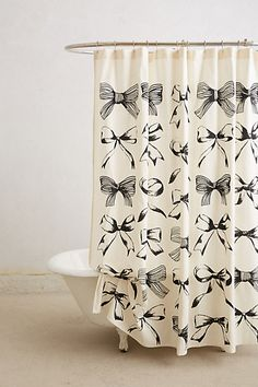 bow-tie shower curtain / anthropologie