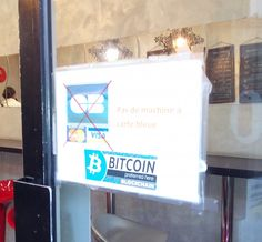 The Sandwicherie does not accept credit cards. Bitcoin is preferred here!