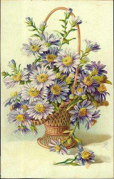 basket of pretty flowers
