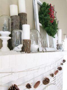 The Wicker House: My Winter Wonderland Christmas Mantel
