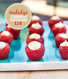 {White Chocolate} Strawberry Cheesecake Bites