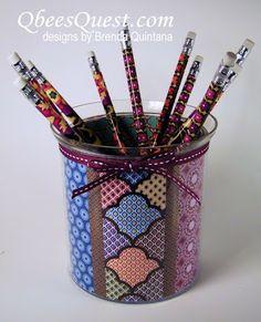 Qbee's Quest: International Bazaar Pencil Holder