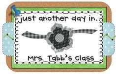 Mrs. Tabb @ First Grade Awesomeness