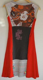upcycled t shirt dress