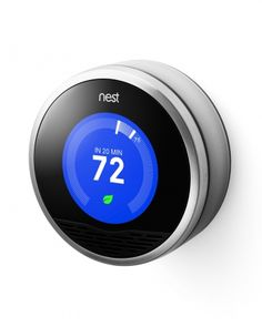 Nest Learning Thermostat  Create a cozy nest with this incredibly-easy-to-install smarty-pants of a thermostat. It learns your heating and cooling home habits, plus helps you to understand how you're using energy and where you can cut back and save. nest.com