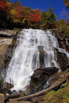 Rainbow Falls NC mountains