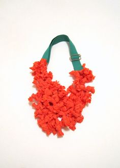 Delicious Madness Fabric Necklace by catrinel777 on Etsy, $72.00
