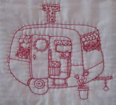 sweet embroidered camper