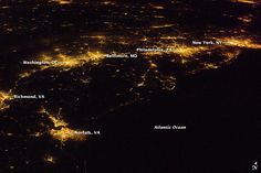A View to Remember: The Eastern Seaboard from the International Space Station. Credit: NASA