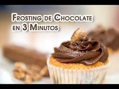 ▶ Frosting de Chocolate en 3 Minutos Riquisimo Sin Batidora - YouTube