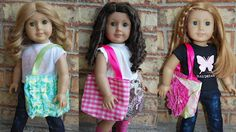 stylish tote, doll cloth, free pattern, doll patterns, ag doll, bag tutorials, tote bags, bag patterns, american girls