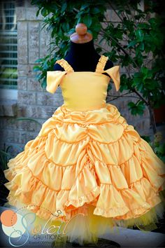 Belle Beauty and the Beast Ball Party Dress Gown
