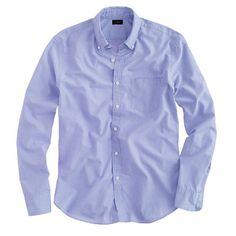 Slim Secret Wash shirt in end-on-end cotton