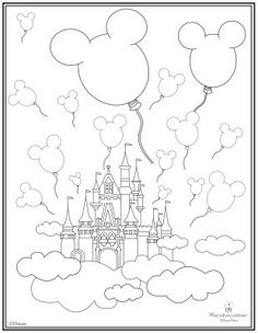 The gallery for disney castle coloring pages printable for Cinderella castle coloring page
