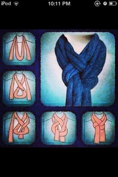 How To tie a scarf this way