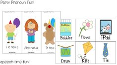 BHSM: Party Pronoun Fun! - Pinned by @PediaStaff – Please Visit ht.ly/63sNtfor all our pediatric therapy pins