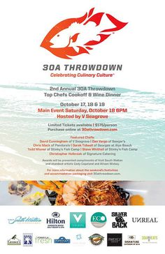 30AEATS.com Celebrity Judge for #30Throwdown this weekend in #SouthWalton! #LoveFL #GulfSeafood