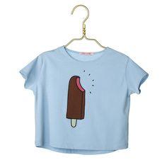 Cherry Papaya T-Shirt - Ice Cream Blue
