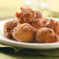 Sugary Apple Fritters Recipe from Taste of Home -- shared by Katie Beechy of Seymour, Missouri
