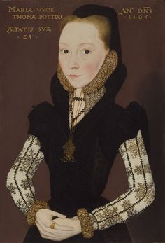 Portrait of Mary Tichborne (b.1541), Master of the Countess of Warwick