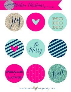 Modern Christmas Gift Tags Laura Winslow Photography Web1 Free Modern Christmas Gift Tags // DIY Holiday Printables