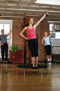 Jumping on a mini trampoline is a great way to exercise and burn tons of calories—not to mention it is loads of fun.