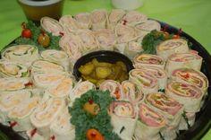wedding catering, wedding receptions, roll ups, food idea, reception ideas, wedding foods, wedding reception finger foods, pinwheel, outdoor receptions