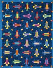 To The Moon, space shuttle, rocket quilt