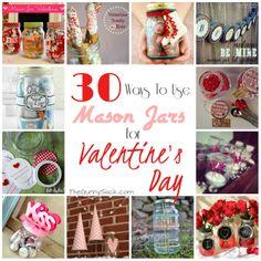 masons, sacks, jar craft, 30 mason, jar idea, valentine day gifts, mason jars, crafts, gunni sack