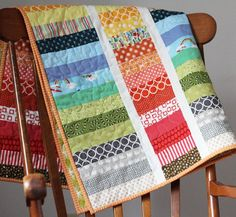 Strip and Flip Quilt w/ tutorial ~ cluck cluck sew