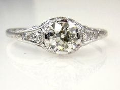 This store also has some really unique interesting rings for good prices. Art Deco Estate Vintage GIA 1.0ct by TreasurlybyDima, $4100.00
