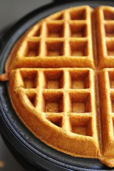 Brown Butter Pumpkin Waffles