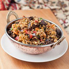 Roast vegetable and freekeh salad #HealthyAperture