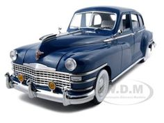 (Limited Supply) Click Image Above: 1948 Chrysler New Yorker Sedan Diecast Car Model 1/18 Blue Die Cast Car By Signature Models