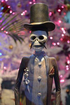 Dandy skeleton man with Top Hat, Day of Dead, dia de los muertos, Catrina doll from Puerto Vallarta, Mexico