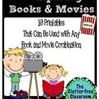 This packet includes 10 printable pages that can be used with an book and movie combination.  It was designed to make viewing a movie in class an e...