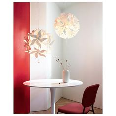 RAMSELE Pendant lamp - flower, white - IKEA
