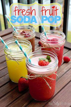 Pineapple Salsa and Fresh Fruit Soda Pop