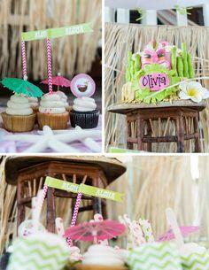 Luau Beach Party with LOTS of IDEAS via Kara's Party Ideas | Kara'sPartyIdeas,com #Luau #Beach #Party #Planning #Idea #Supplies