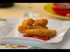 Crujientes Palitos de Queso Mozzarella Fritos