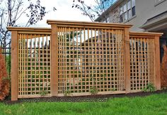 Privacy fence/lattice for clematis