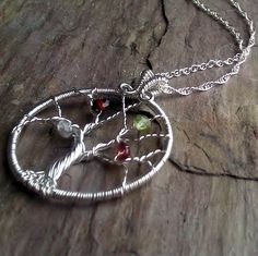 Mothers necklace - family tree.