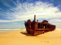 The SS Maheno Shipwreck - Fraser Island  #fraserisland #queensland #australia www.fraserisland.net