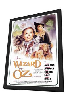 "Back Lot Art 18""H The Wizard Of Oz Framed Poster"