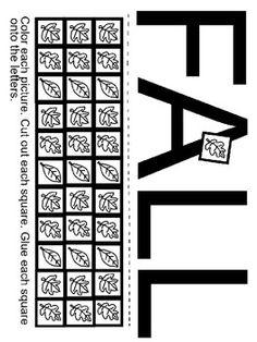 Pre-K and Kindergarten Fine Motor Skills/Literacy Fall Worksheet