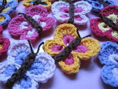 Ravelry: Bountiful Butterflies free pattern butterfli crochet, butterflies, de crochet, bounti butterfli, crochet free patterns, receita de, appliqu, crochet patterns, hat