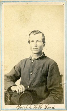 Joseph Ford enlisted as a private in Company G, 13th Kansas Infantry, on September 6, 1862. The 13th Kansas was organized on September 10, 1862, at Atchison, Kansas, and fought at the 1862 battles of Newtonia and Prairie Grove; the unit also preformed provost and garrison duties in Kansas, Missouri, Arkansas, and the Cherokee Nation.    Ford was promoted to corporal on July 15, 1864, and was mustered out with his regiment on June 26, 1865, at Fort Leavenworth, Kansas.